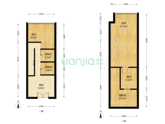 房屋有多余的面积 楼上面积很大 非重的宽
