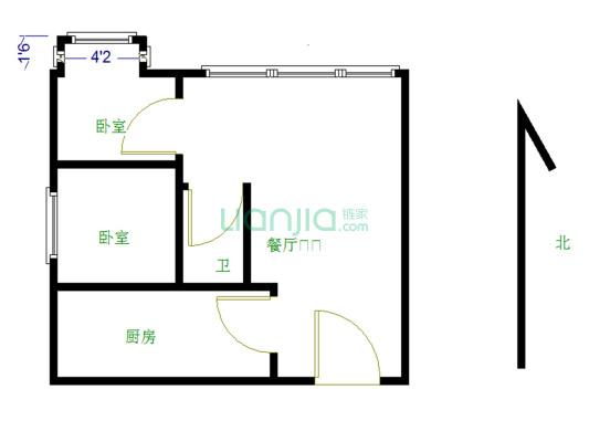 华南mall精装两房,保养好,业主诚心出售