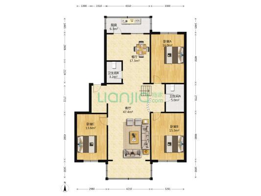 此房满五唯一,简单装修,标准户型,南北通透。