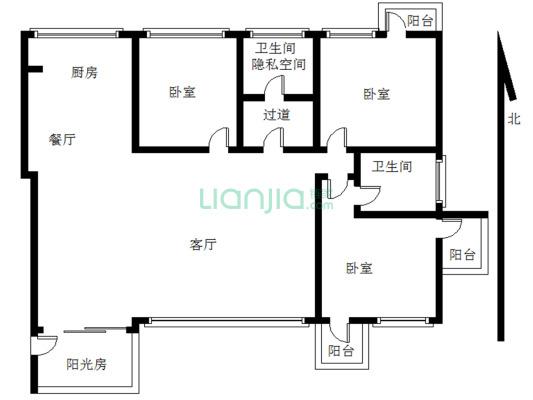 锦绣华城二期 3室2厅 南