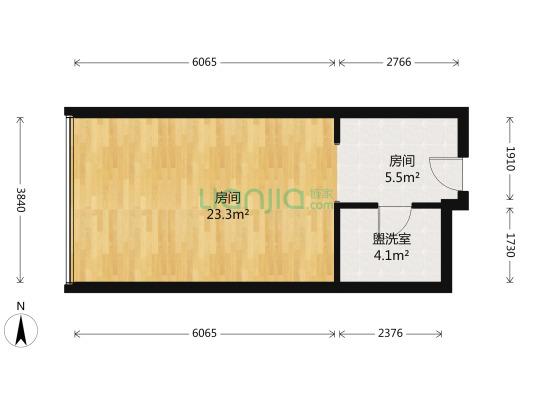 美年广场 2房间1卫 63.4万