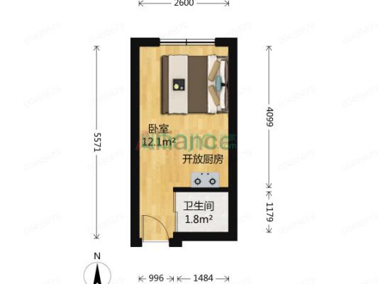 小一室,高楼层,采光好,价格可谈