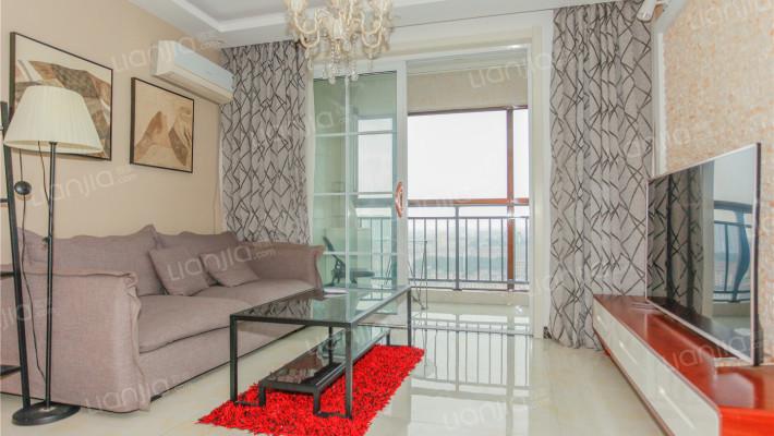 开元美郡 精装公寓 一室朝阳 超 大阳台 中间户型