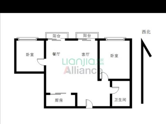 融创公寓两房出售 业主无欠款 带租约家私电器