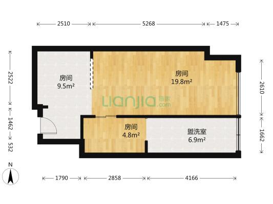 复地金融岛 1室1厅 东