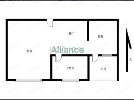 中铭君豪公寓 1室0厅 18万