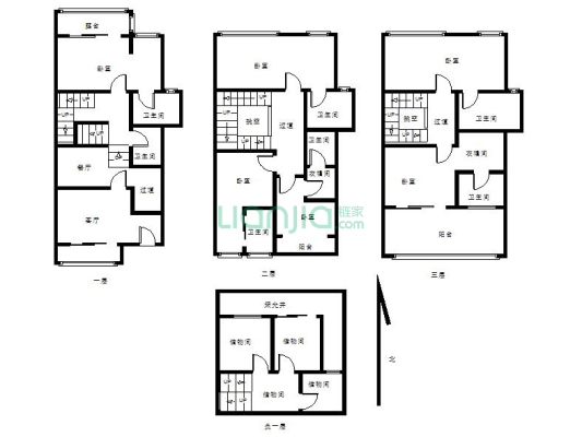 龙城壹号 5室2厅 东南
