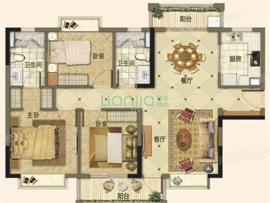 海德骏园精装大三房,双阳台,南北互通,定制装修