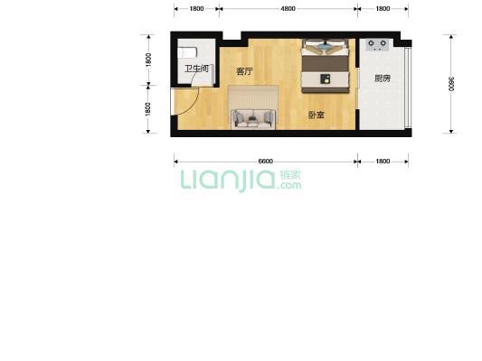 联群西沙苑 携带观海大阳台 单身公寓
