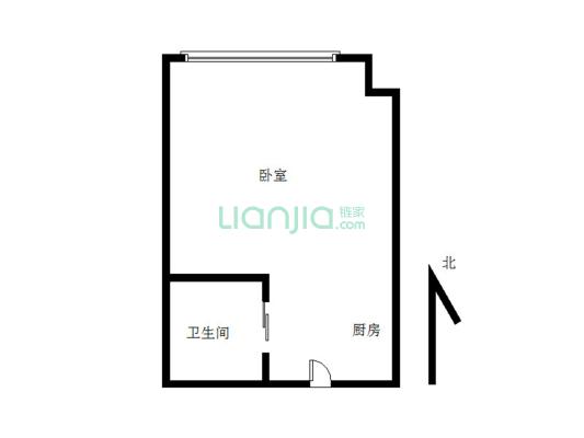 海尚金座简单装修适合过度小一室
