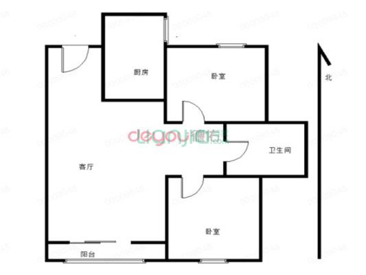 总价低大套二实际面积大于房产证面积左右适合刚需客户