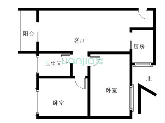 粤华花园 2室2厅 北