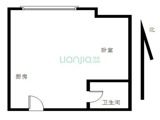 万达华府1房1厅1橱1卫,业主诚心出售。