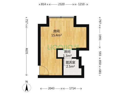 金城大厦 1室0厅 北
