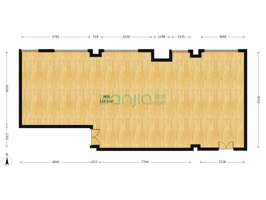 华论国际大厦 1室0厅 北