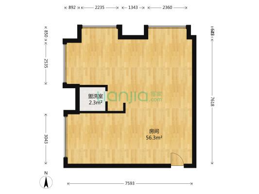 碧桂园云空间 4室1厅 北