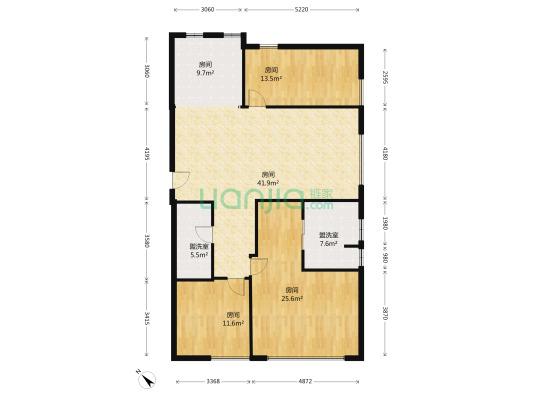 私产房,南北朝向,175.12平米三室,电梯房,地段佳