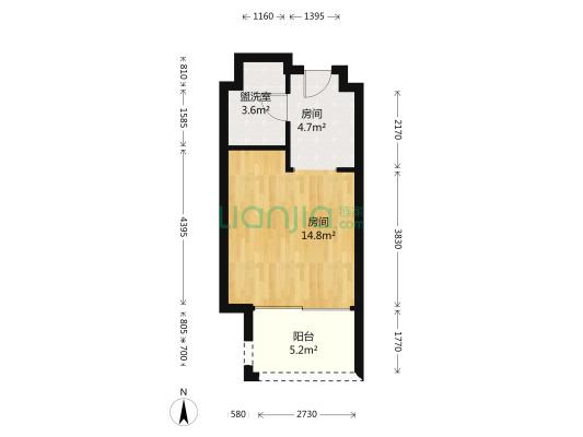 标准套一户型,房东诚心出售,随时可以看房。