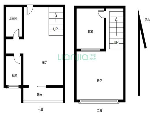 财富精装一房,中空带阳台,朝花园,环境安静舒适