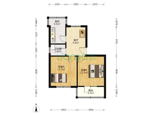 安泰小区 2室1厅 65.53平米