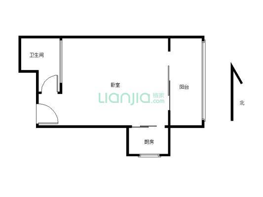 香缤公寓  温馨精装一室  通天然气