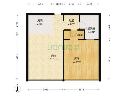 横琴金融传媒中心 1室2厅 东南