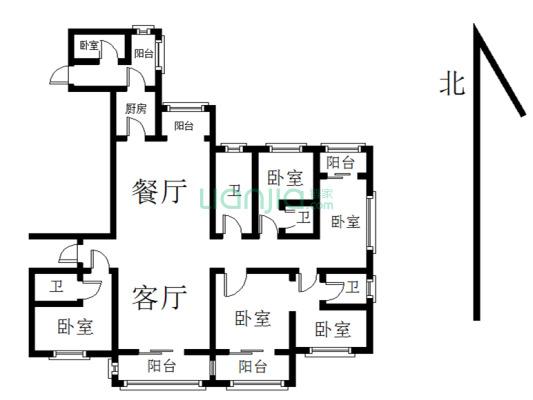 悦麒美寓 一线江景房 大五房 户型正气 满两年 诚售