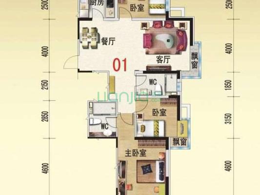 碧桂园银河城聆涛 三室 满五 近地铁