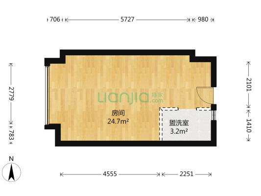 碧桂园云空间 1室1厅 西