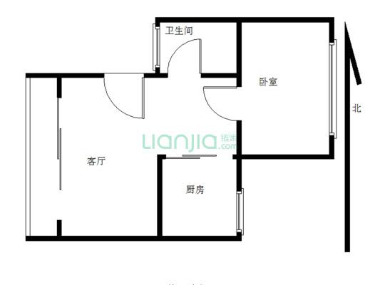 长青北里小区 1室1厅 南