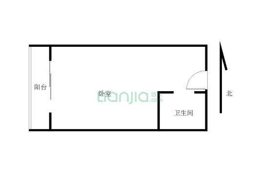 龙光水悦龙湾 1室1厅 西