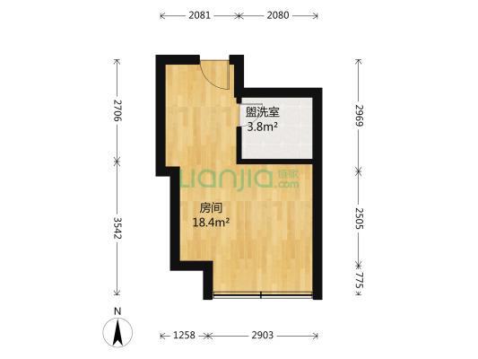 金城大厦 1室0厅 南