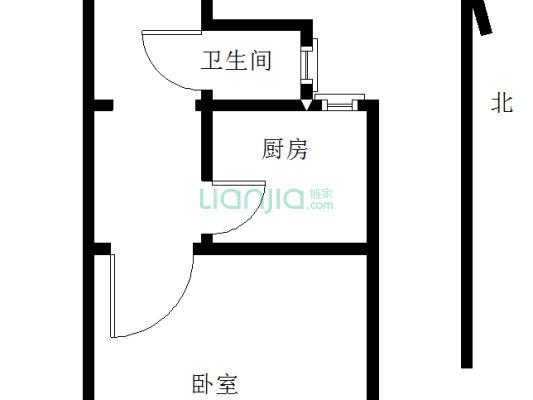 级升里 1室0厅 22.68平米