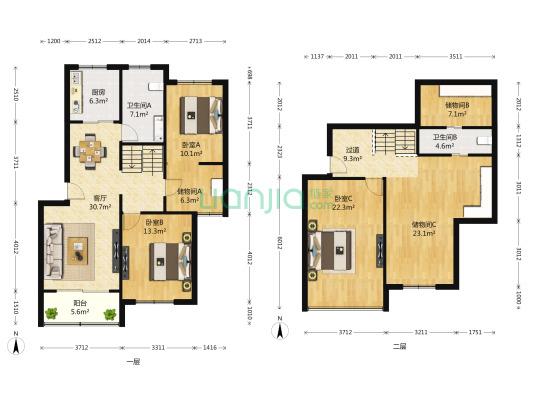 正气房型,居家装修,有阁楼,业主诚意,看房方便
