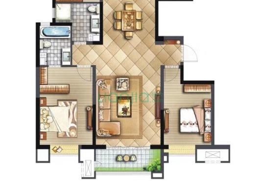 此房已满三,南北朝向板式楼,两梯两户,居住舒适