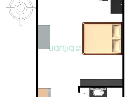 小户型,单身公寓,低总价!户型方正!