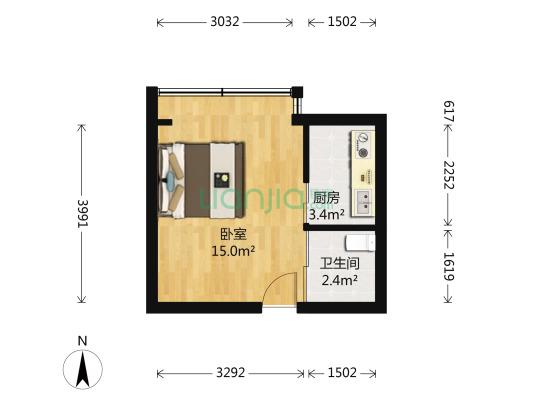 有电梯 小户型 一室的 房子 交通便利