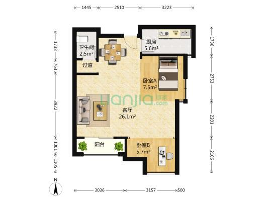 天都城枫桥庭,次新房,低总价两房,诚心卖