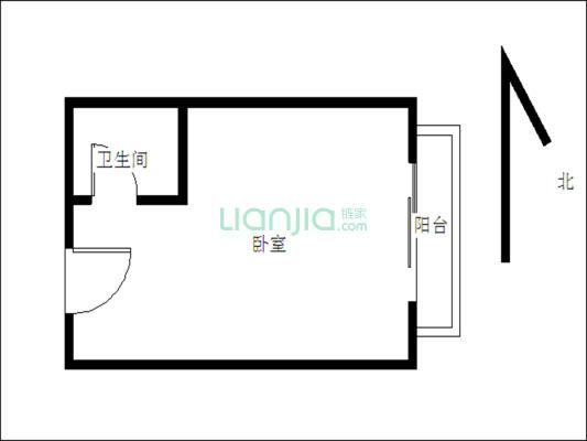高楼层 单身公寓 实用率很高 诚心出售