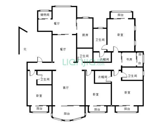 荣禾曲池东岸 5室2厅 940万