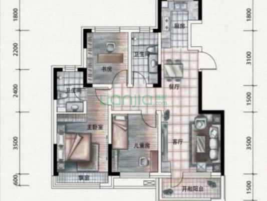 锦祥社区 3室2厅 南 北