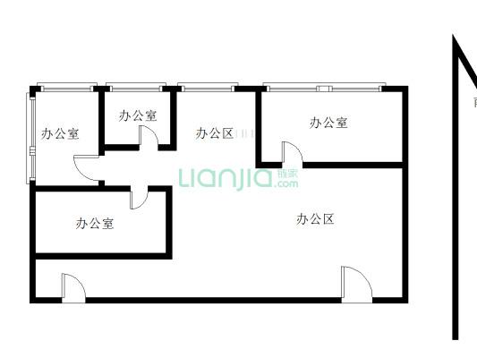 泉州万达中心 6室2厅 东南