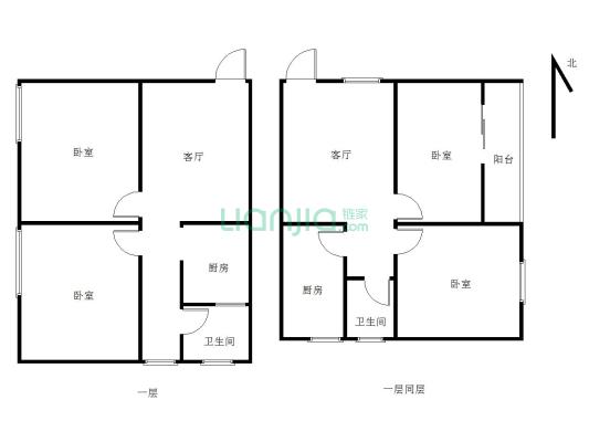 新泽园 60平 小两房 中间楼层