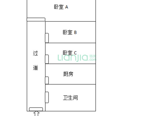 天龙公寓 1室1厅 21万