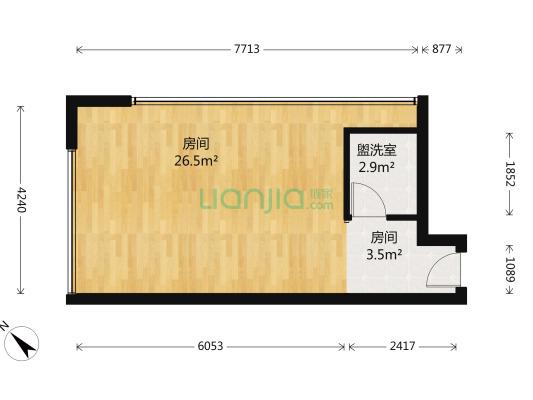 北极星广场 1室1厅