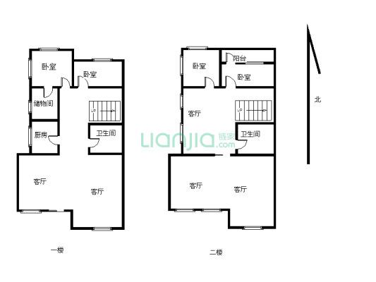翡翠园 4室2厅 南