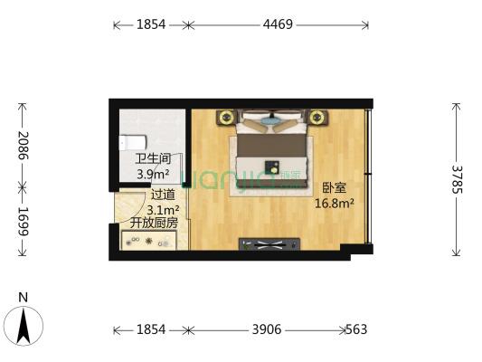 菁华园 1室0厅 东南