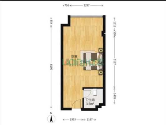 红街1室1厅1厨1卫  单身公寓  产权清晰  已满两年