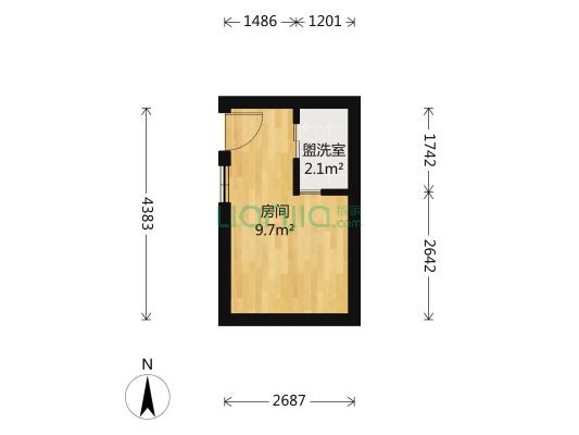 西城广场西祠胡同 办公性质公寓 可以注册公司