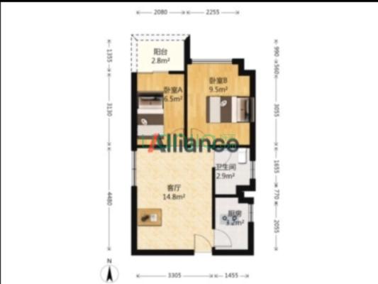 龙光城北二精装2房 楼下沃尔玛 诚意出售